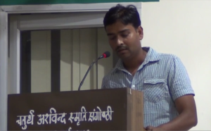 Sukhwinder presenting his paper